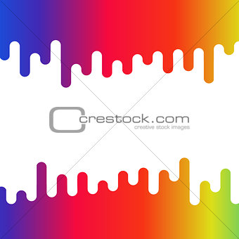 Abstract colorful liquid curvy shape for text and images
