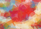 Light red polygonal background with triangle