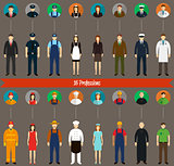 Profession people and avatars collection. Vector