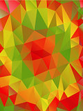 Abstract polygonal triangular background, vector