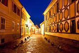 City of Varazdin historic street evening