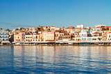 clear water of Chania habour, Crete, Greece