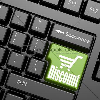 Green discount enter button