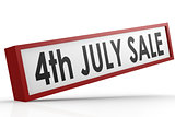 Sale banner on 4th July