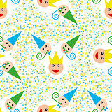 Seamless party pattern composed
