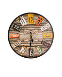 Retro wall clock isolated