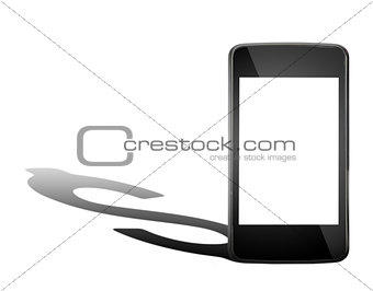 Smartphone with dollar shadow
