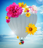 Balloon with flowers