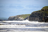 giant waves and cliffs on the wild atlantic way