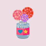 Lollypops In Jar