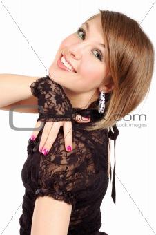 posing attractive girl