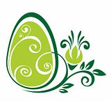 easter egg and green pattern
