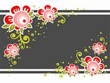 ornate flower background