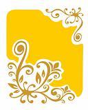 yellow vegetative background