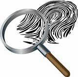 Spyglass and fingerprint