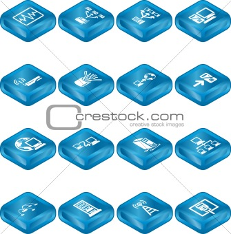 Network Computing Icons Series Set. 