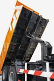 Dump truck mechanism.