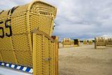 Beach wicker chair in Germany