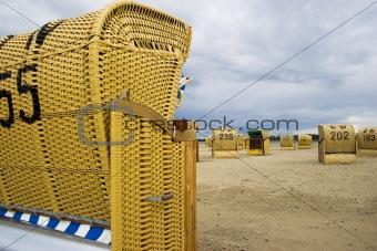 Beach wicker chair in Germany