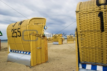 Beach wicker chairs in Germany