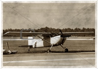amateur plane on airstrip