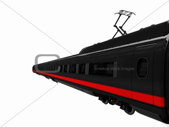 black train isolated view