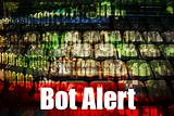Bot Alert Warning Message Background