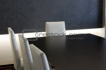 Trendy Modern Dining Room