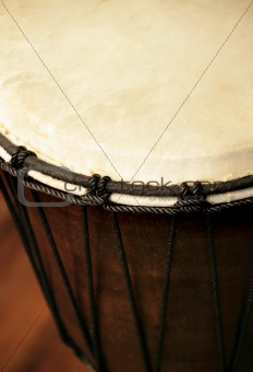 African Djembe drum closeup