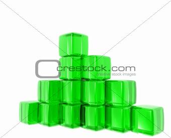 Green Gel Cubes