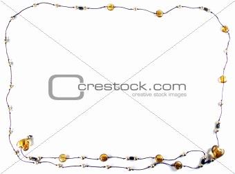 Amber heart frame