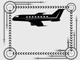 airplane transport icon and background