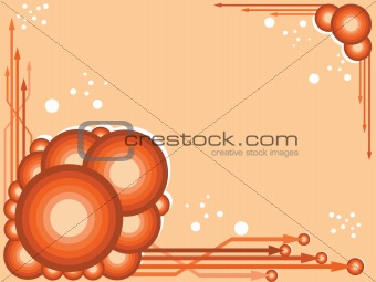 circles and arrows background design