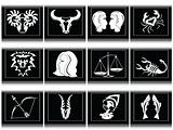 glossy zodiac signs in black