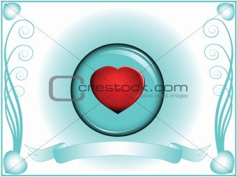 valentine heart in crystal ball