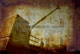 Grunge construction site