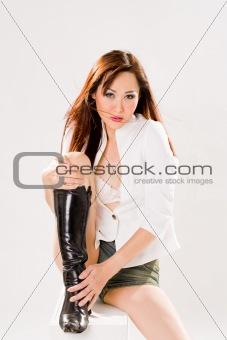 sexy bold woman