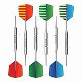 Dartboard darts