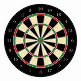 Dartboard over white