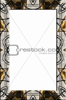 Abstract metallic portrait frame