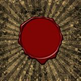 Wax seal parchment background