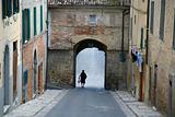 Town gate Sarteano, Italy