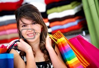 woman - shopping bags