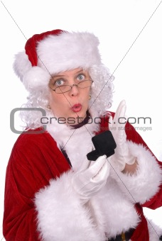 Mrs. Claus with ring