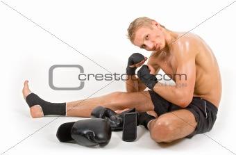 Sitting boxer