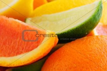Citrus wedges