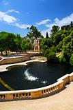 Jardin de la Fontaine in Nimes France