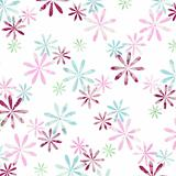 graphic flowers on white background