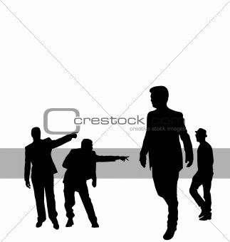 posing people