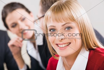 Face of business woman